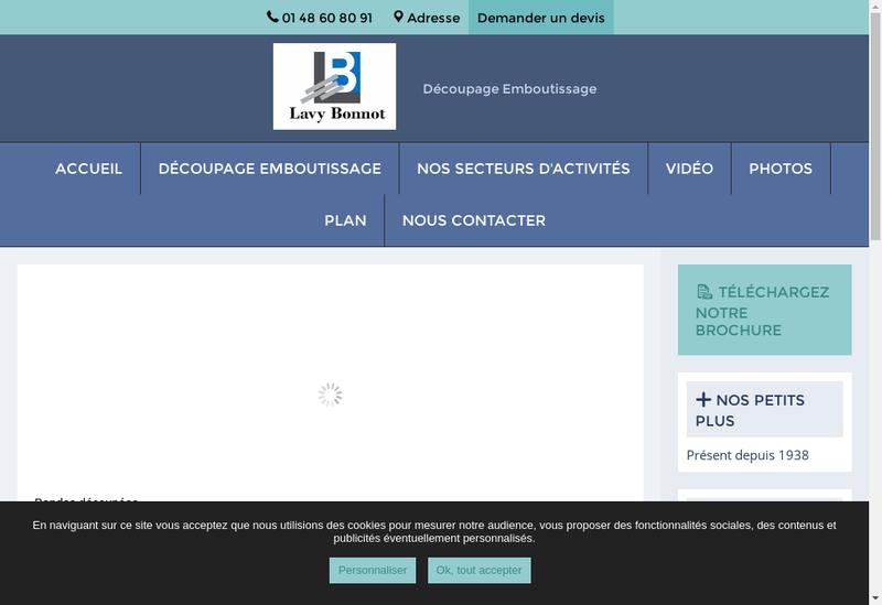 Capture d'écran du site de Lavy Bonnot