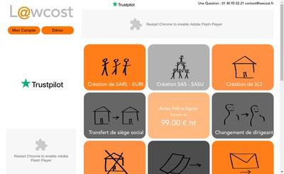 Site internet de Lawcost