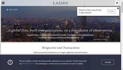 Site internet de Lazard Freres