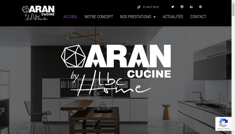 Capture d'écran du site de Lbc Home