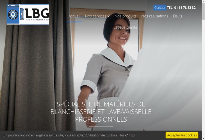 Capture d'écran du site de LBG