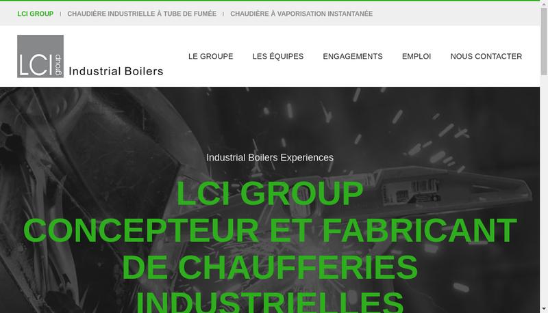 Capture d'écran du site de LCI Loos Chaudieres Industrielles