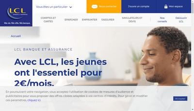 Site internet de Lcl - le Credit Lyonnais