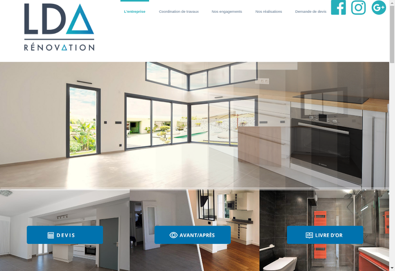 Capture d'écran du site de Lda Renovation
