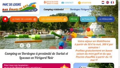 Site internet de Aux Etangs du Bos