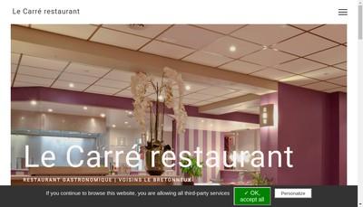 Site internet de Le Carre Restaurant