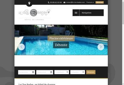 Site internet de Le Clos Badan