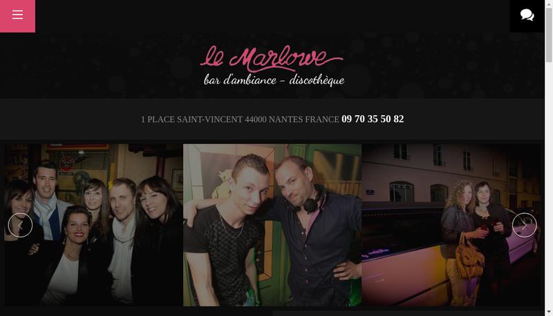 Capture d'écran du site de Le Marlowe