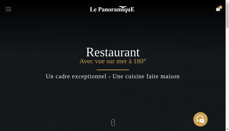 Capture d'écran du site de Restaurant le Panoramique