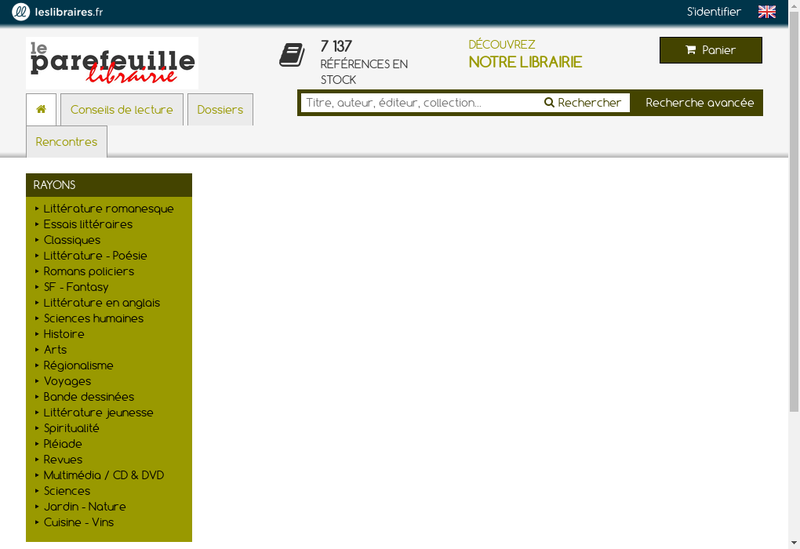 Capture d'écran du site de Le Parefeuille