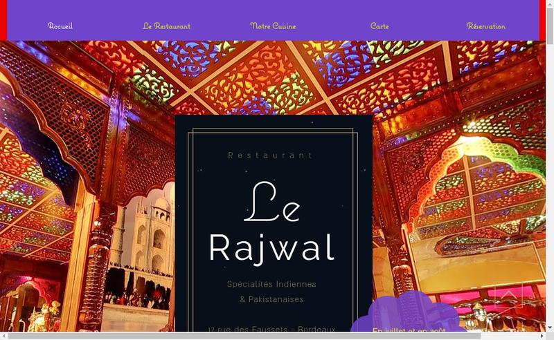 Capture d'écran du site de Rajwal