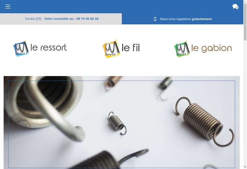 Capture d'écran du site de Le Ressort