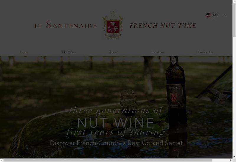 Capture d'écran du site de Le Santenaire