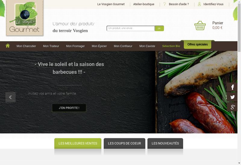 Capture d'écran du site de Pierrat