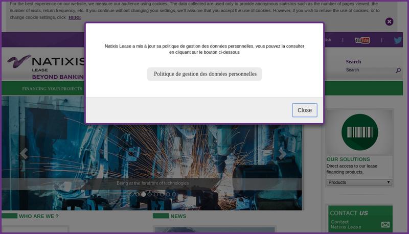 Capture d'écran du site de Natixis Lld