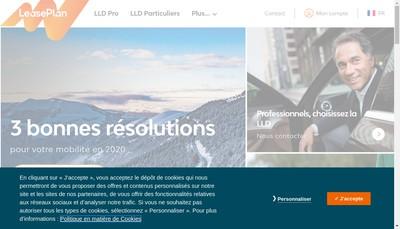 Site internet de Leaseplan France SAS