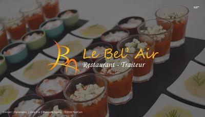 Site internet de Bel'Air Traiteur Restaurant le Bel'Air