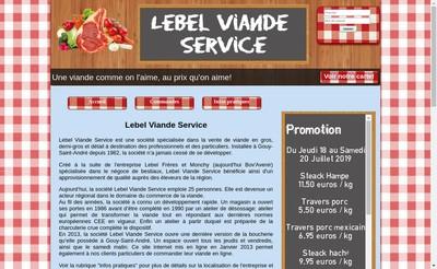 Site internet de Lebel Viandes Service