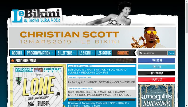 Capture d'écran du site de Bi Kini