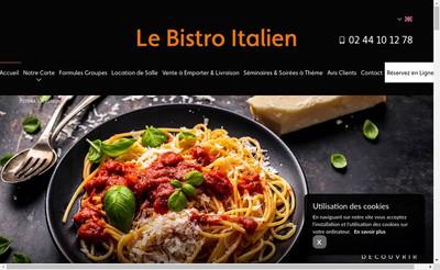 Site internet de Le Bistro Italien Evreux