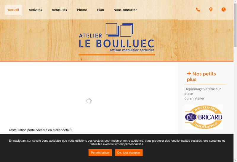 Capture d'écran du site de Atelier le Boulluec