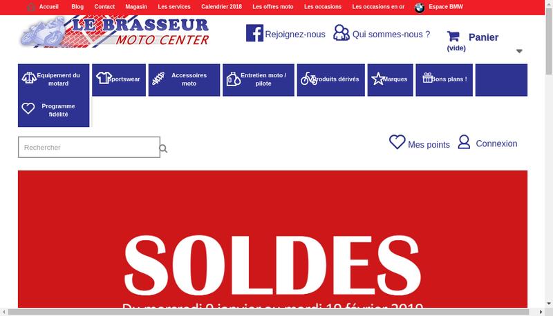 Capture d'écran du site de Le Brasseur Moto Center