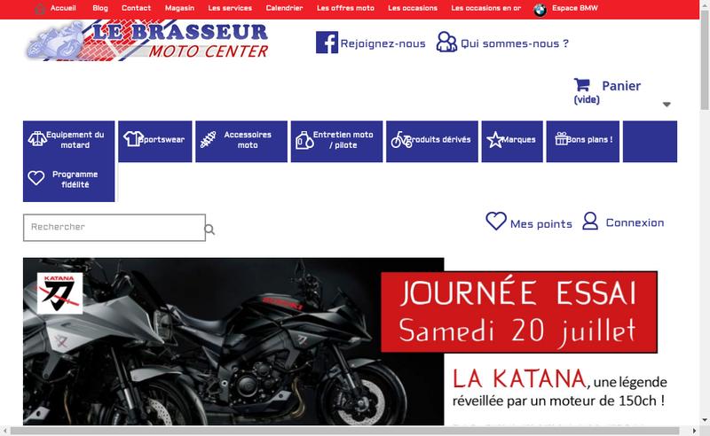 Capture d'écran du site de Le Brasseur - Moto Center
