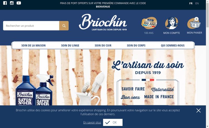 Capture d'écran du site de Lebriochin