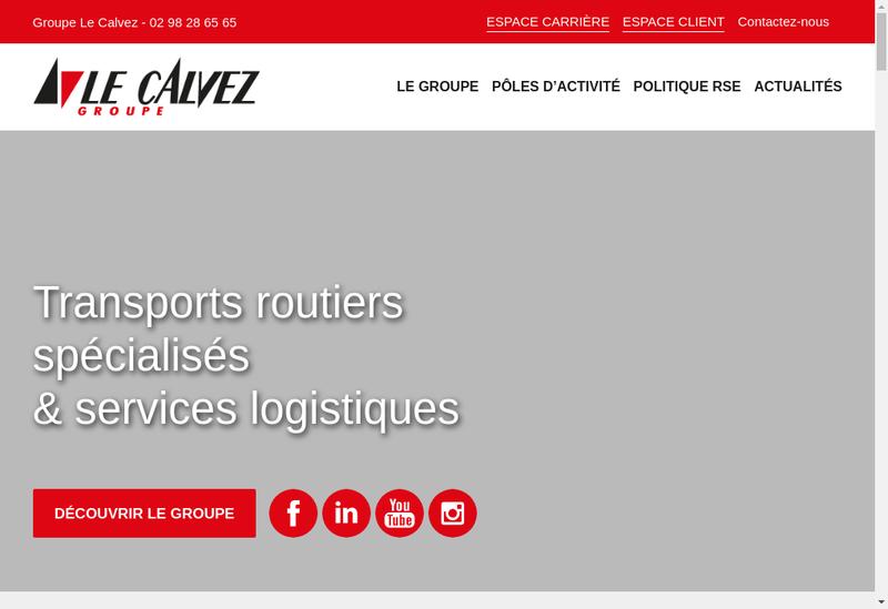 Capture d'écran du site de TGC