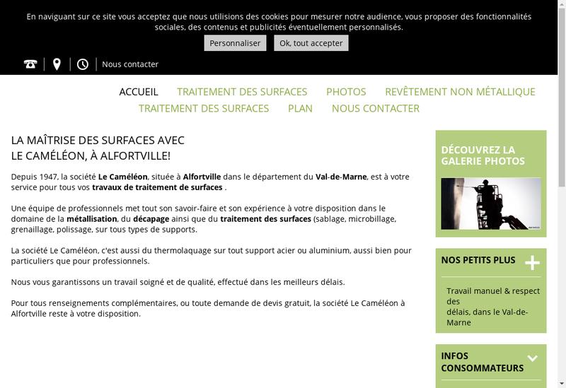 Capture d'écran du site de Societe le Cameleon