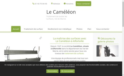 Site internet de Societe le Cameleon
