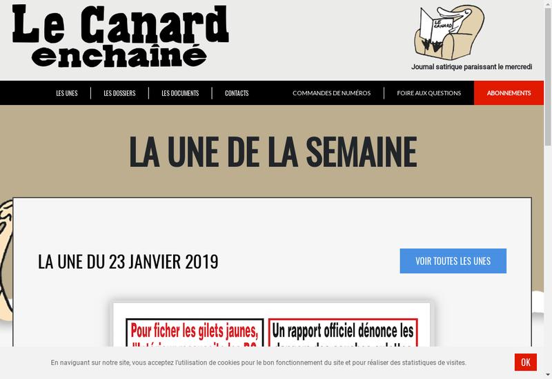 Capture d'écran du site de Les Editions Marechal et Le Canard Enchaine