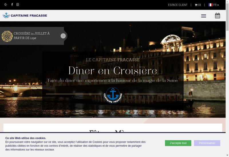Capture d'écran du site de Le Capitaine Fracasse