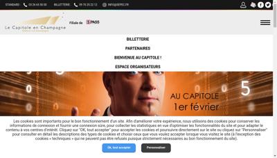 Capture d'écran du site de Societe Exploit Parc Expositions Capitole