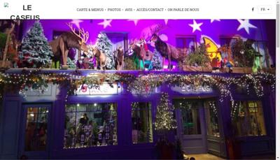 Capture d'écran du site de Le Caseus