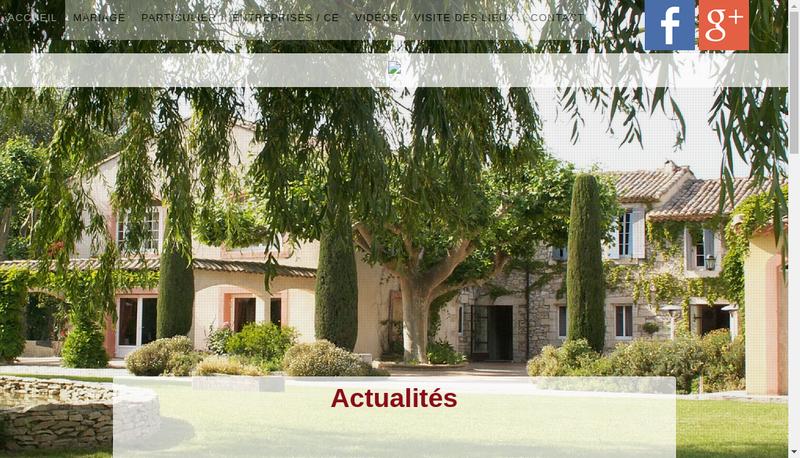 Capture d'écran du site de Le Castel