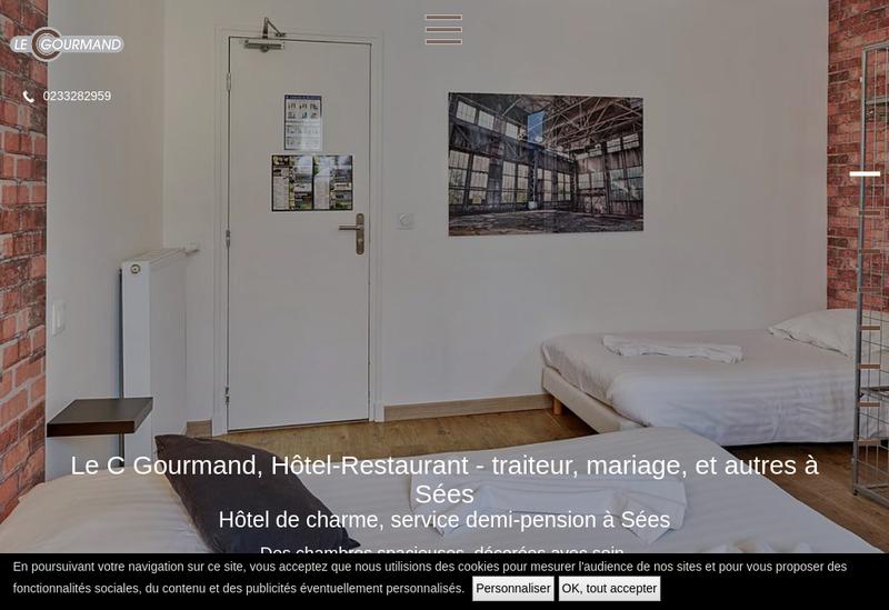 Capture d'écran du site de Le C Gourmand