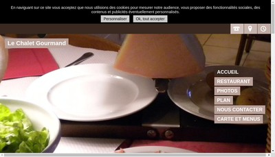 Site internet de Le Chalet Gourmand
