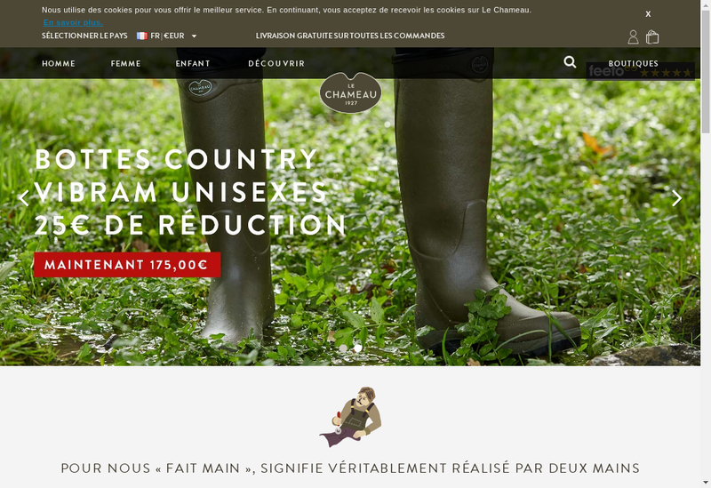 Capture d'écran du site de Le Chameau
