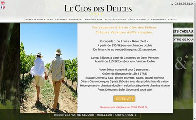 Site internet de 6717 Nature Hotel & Spa - le Clos des Delices - le Chatelain - Domaine Schaetzel