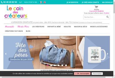 Site internet de Le Coin des Createurs