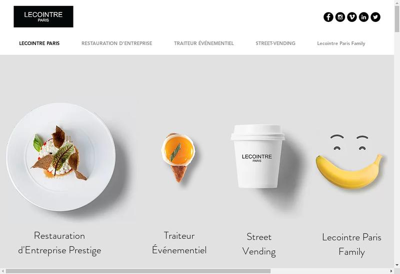 Capture d'écran du site de Lecointre Paris Concept Service
