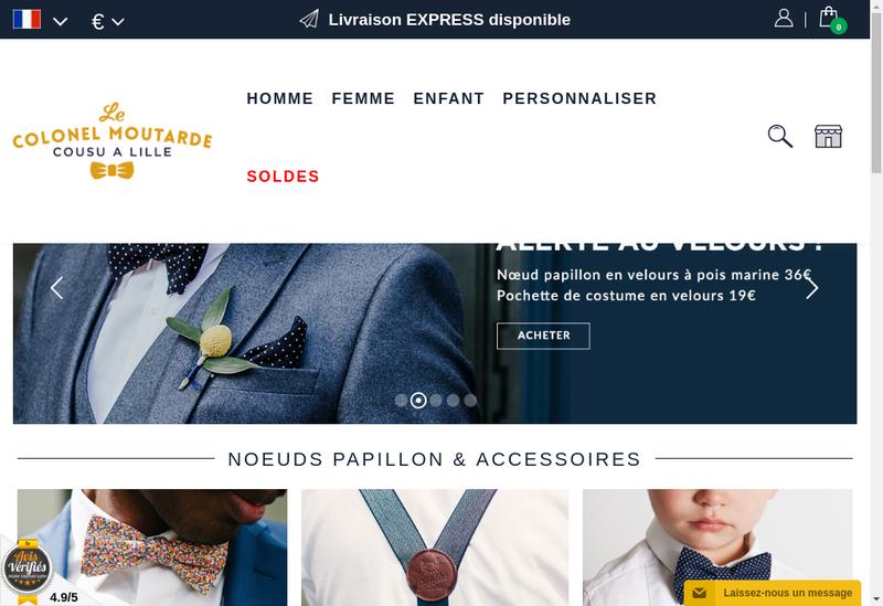 Capture d'écran du site de Le Colonel Moutarde