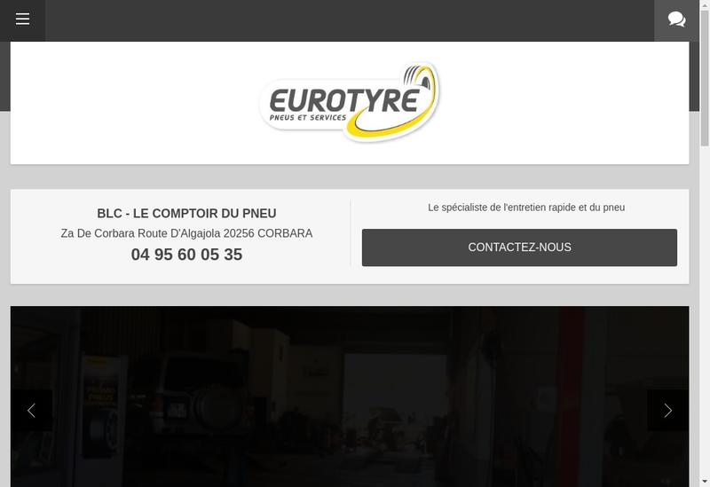 Capture d'écran du site de Le Comptoir du Pneu