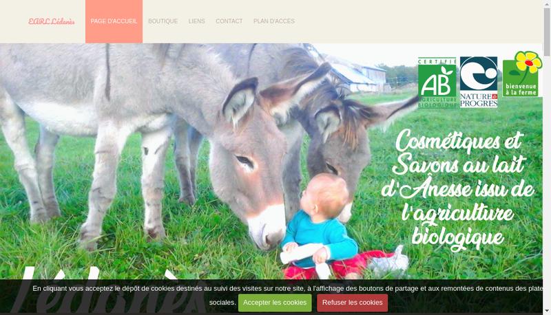 Capture d'écran du site de Ledanes