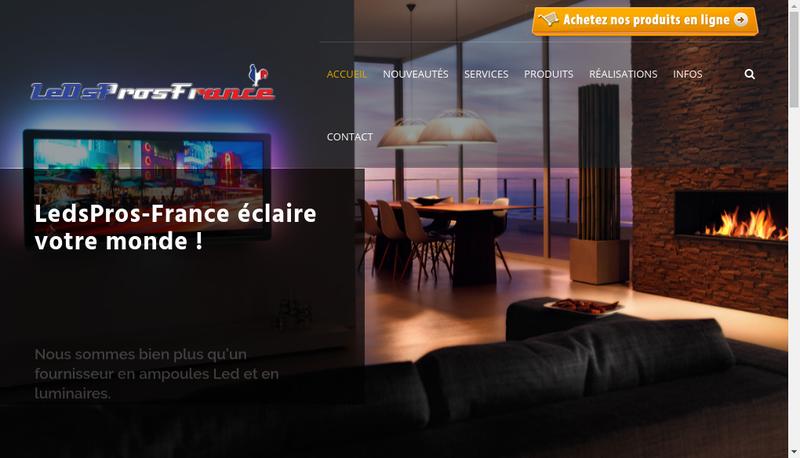 Capture d'écran du site de Ledspros - France