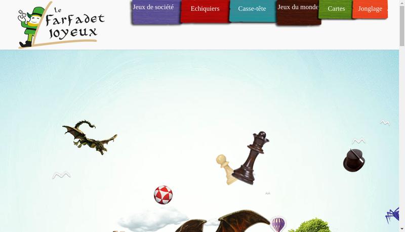 Capture d'écran du site de Le Farfadet Joyeux