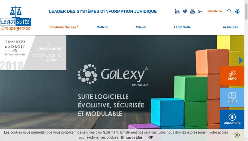 Capture d'écran du site de Legal Suite Groupe SAS