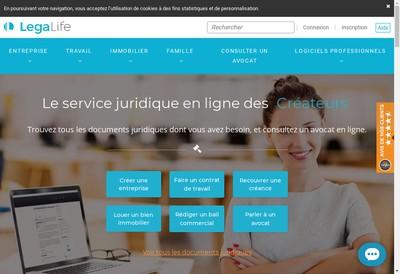 Site internet de Legalife