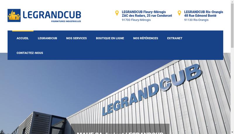 Capture d'écran du site de Legrand Cub